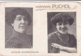 Spain Postcard Hermanas PUCHOL Artistas España ( 2 Scans ) - Entertainers