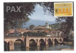 PORTUGAL - PONTE DA BARCA - EUROPA CEPT 84 - BPC 55 - 2 SCANS - CARTE MAXIMUM - MAXICARD - Maximum Cards & Covers