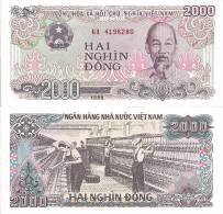 Viet Nam P-107a, 2000 Dong, Ho Chi Minh / Textile - Vietnam