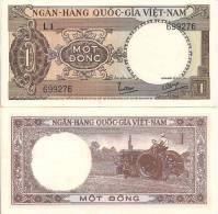 Viet Nam, South P-15a, 1 Dong, Tractor, 1964 - Vietnam
