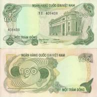 Viet Nam, South P-26a, 100 Dong, National Bank Building, Saigon $5 CAT - Vietnam