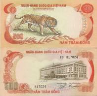 Viet Nam, South P-33a, 500 Dong, GREAT Tiger! $6 Cat. Value! - Vietnam