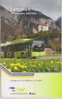 Liechtenstein Bus Timetable 2009/2010 - Transport