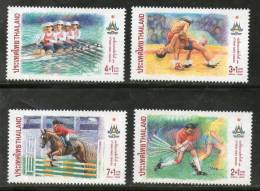 Thailand 1998 Asian Games Bangkok Hockey Wrestling Rowing Sc B84-87 MNH # 2812 - Gymnastics