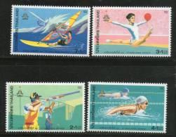 Thailand 1998 Asian Games Bangkok Shooting Swimming Gymnastic Wind-Surfing Sc B80-83 MNH # 5399 - Gymnastics