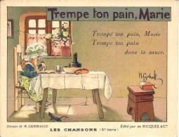 Image Publicitaire - Alcool De Menthe RICQLÈS - Illustré Par H. Gerbault - Trempe Ton Pain Marie - Chromos