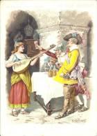 Image Publicitaire - AU BON MARCHÉ - Illustré Par P. Kauffmann - La Cigale Et La Fourmi - Au Bon Marché