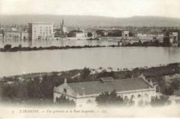 CPA PIONNIERE TARASCON (Bouches Du Rhone) - Vue Générale Et Le Pont Suspendu - Tarascon
