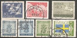 Svezia 1955/57 Usato - N° 7 Valori