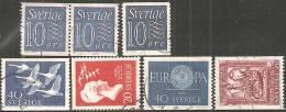 Svezia 1956/62 Usato - N° 7 Valori