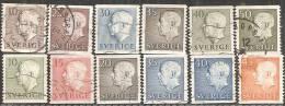 Svezia 1951/60 Usato - N° 12 Valori