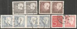 Svezia 1951/60 Usato - N° 10 Valori