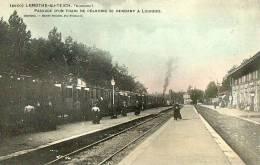 BASSIN D'ARCACHON LAMOTHE DU TEICH - LA GARE TRAIN DE PELERINS SE RENDANT A LOURDES - Unclassified