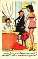 Illustrateur Elbé - Ce Que Fait Ce Jeune Homme Dans Ton Lit ? Chéri ! Tu Manques D'imagination (cocu) - Illustrateurs & Photographes