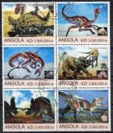 Angola 2000 Dinosaurs Block Of 6 CTO - Angola