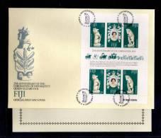 1978(21/04)SUPERB FDC WITH EXPLANATION-Y.T.374-376 FIDJI 25TH ANNIV.CORONATION ELISABETH II - Fidji (1970-...)