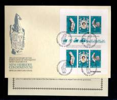 1978(2/06)SUPERB FDC WITH EXPLANATION- Y.T. BL.537 A NEW HEBRIDES (ANGLAIS) 25TH ANNIV.CORONATION ELISABETH II - Nouvelles-Hébrides