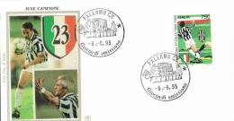 """120-Italia FDC FILIGRANO Gold S - 5. 6.1995  1  Busta 1° Gg.  """" Juve Campione""""  £. 750 - F.D.C."""