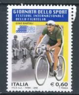 ITALIA / ITALY 2009** - Giornata Dello Sport - Gino Bartali -  1 Val. MNH  Come Da Scansione - Wielrennen