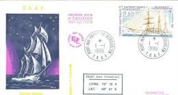 TAAF ENV  FDC 1996 VOILIER YVES DE KERGUELEN - FDC