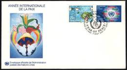 ONU UNITED NATIONS NEW YORK / GENEVA / VIENNA 1986 - INTERNATIONAL YEAR OF PEACE - 3 FDC - UNO