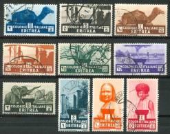 1933 Eritrea Soggetti Africani Serie Completa Usata - Eritrea