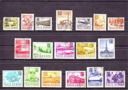 1967,  POSTE Et TRANSPORTS, YV=2345/2365 Et MI=2639/2657 - 1948-.... Republics