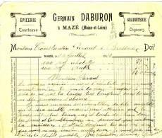 MAZE  - Maine Et LOIRE - Germain DABURON - Graineterie    Epicerie . - Agriculture