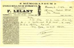 VERNANTES   - Maine Et LOIRE - F  LELANT  - Grands Moulins De Vernantes. - Agriculture