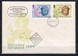 Scarce SPACE FDC Bulgaria 1964 (bul 11) - FDC & Commemorrativi