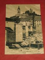 """LAUFENBOURG - Le Château D'après V. Baumgartner - """" La Suisse Croquis D'artistes """"  -  1908 - (2 Scans) - AG Argovie"""