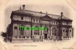 CPA 38 GRENOBLE  LA  MUSEE ET LA BIBLIOTHEQUE - Grenoble