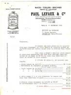 93 - PANTIN, 70 Avenue Edouard - Vaillant. PAUL LEFAUX & & CIE - SACS - TOILES - BÂCHES - Agriculture