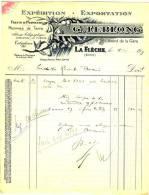 72 - LA FLECHE, 9 Boulevard De La Gare. - G. LEBLONG -  EXPEDITION EXPORTATION FRUITS &  PRIMEURS - Agriculture