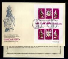 1978(21/04) SUPERB FDC  WITH EXPLANATION Y.T.410-412 SAMOA I SISIFO 25TH ANNIV.CORONATION ELISABETH II - Samoa