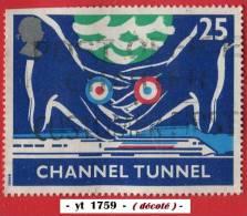 1994 - Europe - Grande-Bretagne - 25p . Mains Britannique Et Française ( Cocardes ), Sous La Mer - - Used Stamps