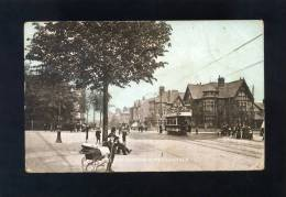 V1735 CARTOLINA ILLUSTRATA  HILL TOP LONDON ROAD LEICESTER FP. V. - Leicester