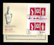 1978(21/04) SUPERB FDC WITH EXPLANATION Y.T. 394-396 BELIZE-25TH ANNIV.CORONATION ELISABETH II - Belize (1973-...)