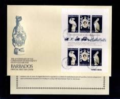 1978(21/04) SUPERB FDC WITH EXPLANATION Y.T. 449-451 BARBADOS-25TH ANNIV.CORONATION ELISABETH II - Barbades (1966-...)