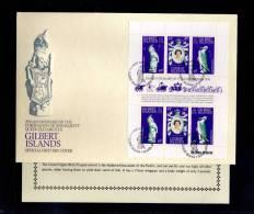 1978(21/04) SUPERB FDC WITH EXPLANATION Y.T. 60-62  GILBERT ISLANDS-25TH ANNIV.CORONATION ELISABETH II - Autres - Amérique