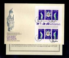 1978(21/04) SUPERB FDC WITH EXPLANATION Y.T. 60-62  GILBERT ISLANDS-25TH ANNIV.CORONATION ELISABETH II - Postzegels