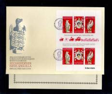 1978(02/06) SUPERB FDC WITH EXPLANATION Y.T.376-378 ST CHRISTOPHER NEVIS-25TH ANNIV.CORONATION ELISABETH II - St.Kitts-et-Nevis ( 1983-...)