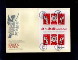 1978(21/04) SUPERB FDC Y.T.344-346 SOLOMON ISLANDS-25TH ANNIV.CORONATION ELISABETH II - Salomon (Iles 1978-...)
