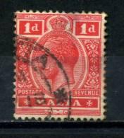 MALTA    1914    1d  Carmine  Red      USED - Malta