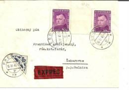 Slo002/ Josef Tiso Mit Zwischensteg (Mi. Nr. 61) Möglicherweise Nicht Postalisch Gelauften! - Storia Postale