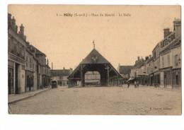 C  P  A---91---MILLY LA FORET---place Du Marche-la Halle---voir 2 Scans - Milly La Foret