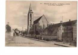 C  P  A----91-MILLY LA FORET---l´eglise (1479) Et La Rue Langlois--voir 2 Scans - Milly La Foret