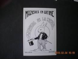 SN  713    MAZIERES EN GATINE  FESTIVAL DE LA MAGIE DESSIN DE PAT  1986 - Mazieres En Gatine
