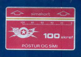ICELAND: ICE-D-01A 1st L&G TK. CN:601A (1986)