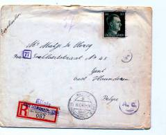 BRIEF VAN TEWERKGESTELDE AAN OUDERS ( MET ORIGINELE BRIEF * EINSCHREIBEN - Weltkrieg 1939-45